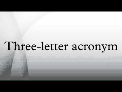 Three-letter acronym