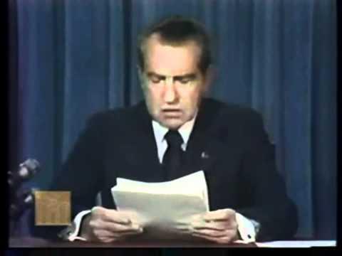 President Nixon's Address Announcing His Resignation.