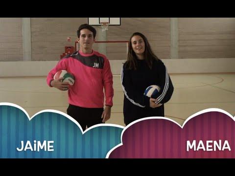 Ejercicios Familiarización Voleibol - Jaime y Maena
