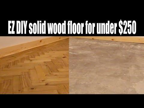 EZ DIY Wood floor under $250