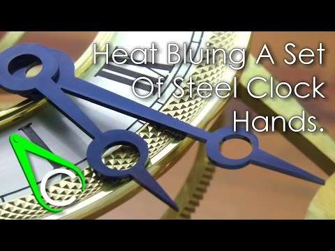 Spare Parts #12 - Heat Bluing A Set Of Steel Clock Hands