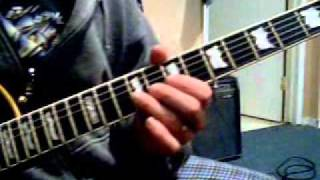 EZ AXE LESSON CAROL OF THE BELLS BY TRANS SIBERIAN ORCHESTRA ARRANGED FOR ONE GUITAR
