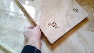 Керамическая плитка на фанеру (демонтаж разбитой плитки) ПОСВОРУ