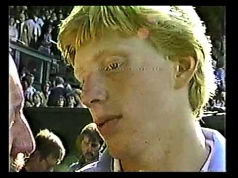 Bud 'Mr Tennis' Collins interviews Curren & Becker (1985)