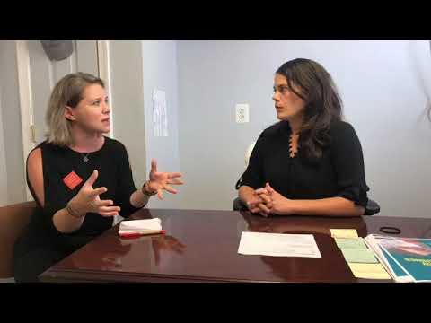 Pennsylvania Representative Elizabeth Fiedler talks with Moms Clean Air Force