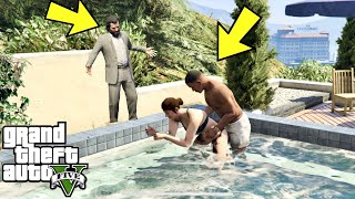 What Do Franklin  Amanda Do In The Pool In GTA 5? (Michael Caught Them)