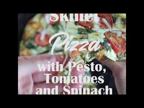 How to Make Skillet Pizza With Pesto