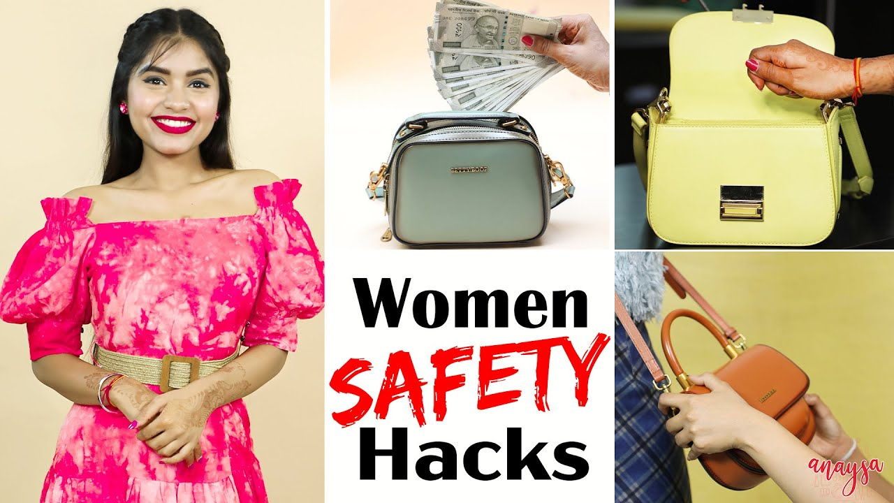 7 Life Saving SAFETY & SURVIVAL Hacks | Women's Day Special | Anaysa