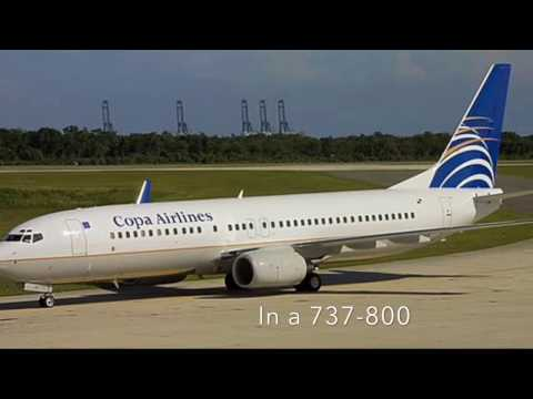 Copa airlines 737-800 panama to orlando (PTY) to (MCO)