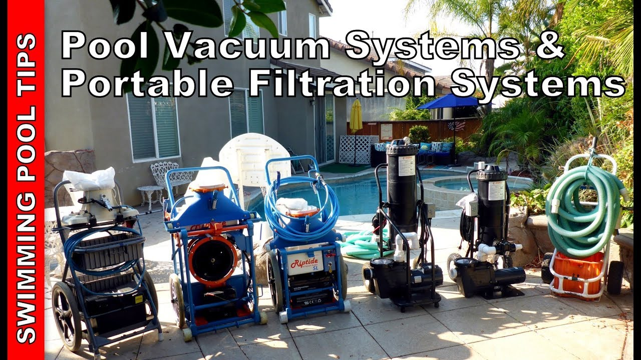 Pool Vacuum Systems Portable Filtration Systems Youtube