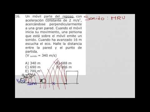 Como resolver problemas que involucren velocidad del sonido
