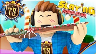 LOCKS UP TO THE DELICIOUS CANDY COUNTRY! -Slaying Simulator-Ep 2 | Danish Roblox