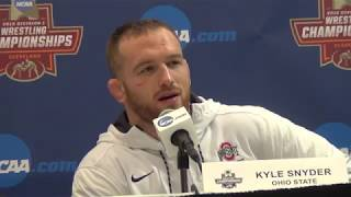 Kyle Snyder of Ohio State, 2018 NCAA champion at 285