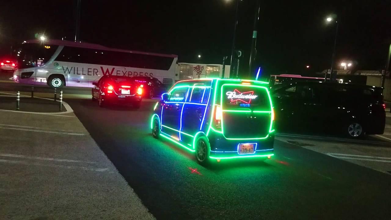 夜蝶會 凱旋パレード光る車 - YouTube