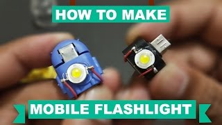How To Make Micro Usb Otg Flash light - easy way kasnox