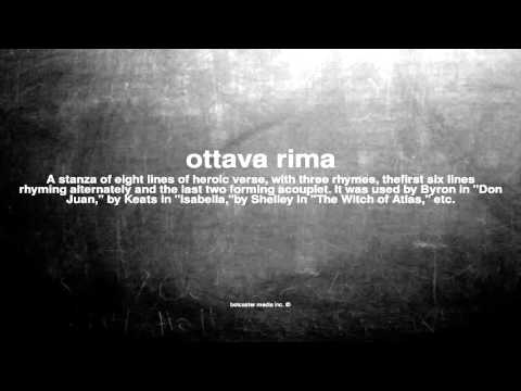 What does ottava rima mean