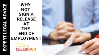Now Trending - Why not to sign a release at the end of employment explained by Att. Gary Bennett.