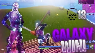 INTENSE 13 KILL GAME with GALAXY SKIN on FORTNITE BATTLE ROYALE | CRAZY BUILD BATTLES
