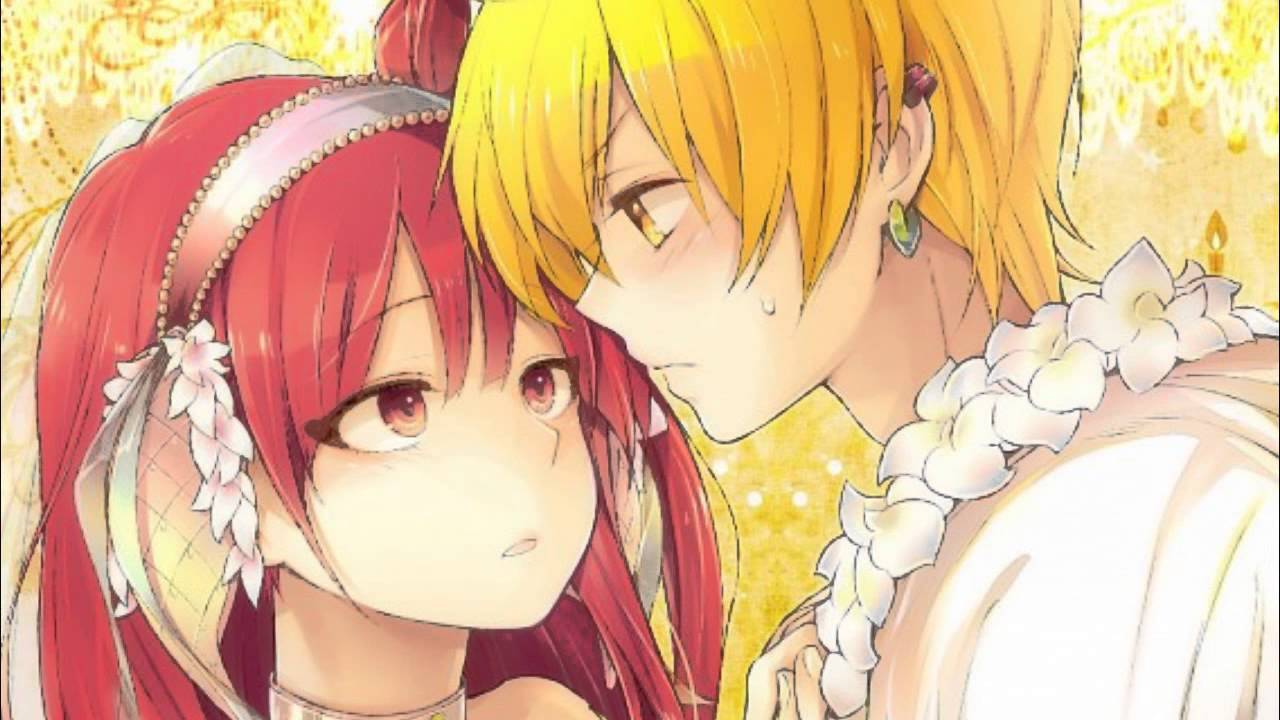 magi alibaba and morgiana kiss -#main