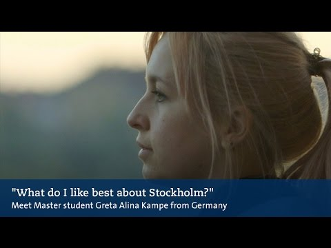 What do I like best about Stockholm? Meet German master's student Greta Alina Kempe