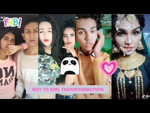 Indian Crossdresser Tik Tok #boytogirlchallenge || Transformation || Part 4