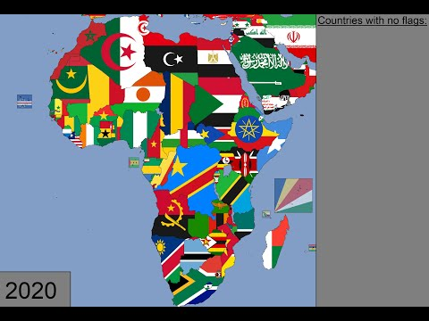 Africa: Timeline of National Flags: 1600 - 2020