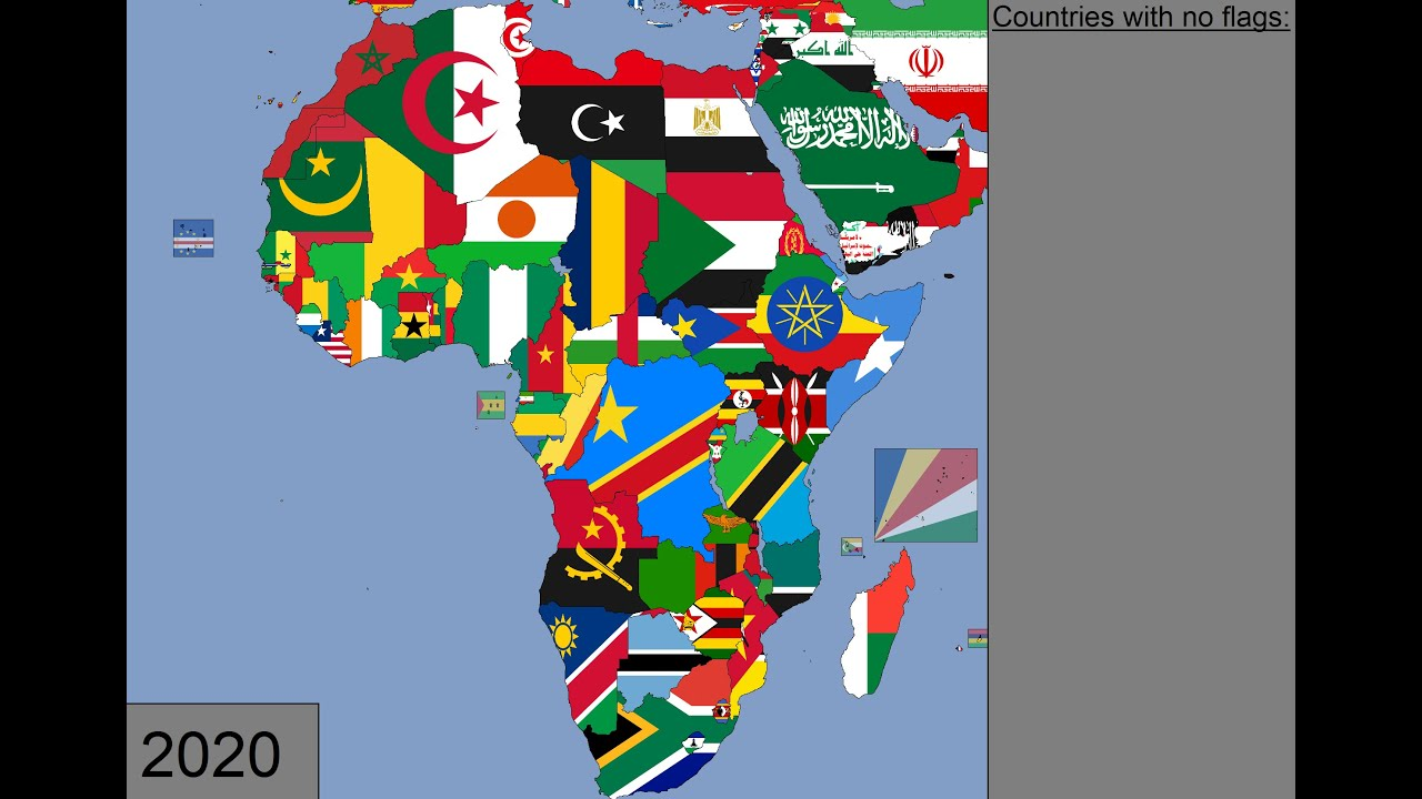 Download Africa: Timeline of National Flags: 1600 - 2020