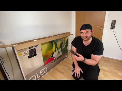 Samsung QLED 4K Q70T 138 cm 55 Zoll Quantum Prozessor 4K Dual LED Quantum HDR unboxing und Anleitung