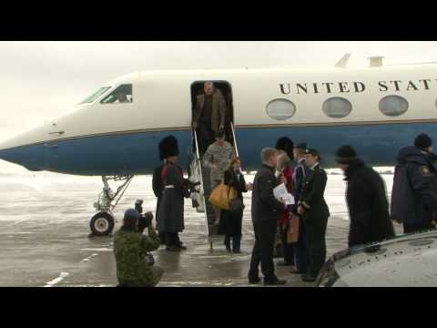 Raw Video: Gen. McChrystal Visits Ottawa