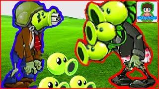 Игра Растение против зомби,  Зомби стали растениями,  - Plants Vs Zombies  Наоборот От Фаника 3