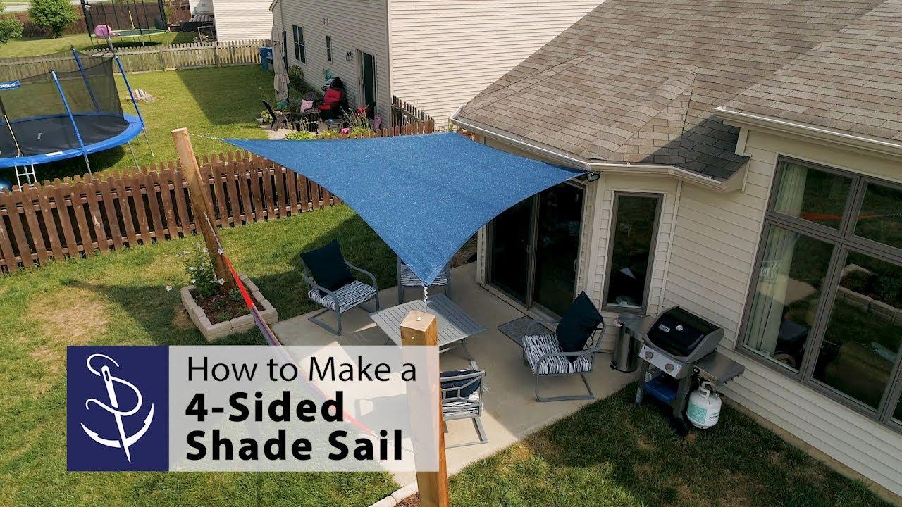 temporary sun shade for a patio