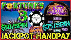 ⭐️HIGH LIMIT Fortunes 3 - Echo Fortunes ⭐️ Double Top Dollar $75 BONUS ROUND (2) JACKPOT HANDPAYS