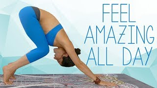 Quick & Easy Morning Yoga for Energy & Flexibility! Feel Amazing All Day! Beginners Class At Home