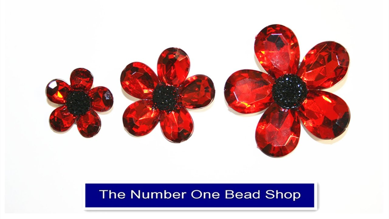How to make a poppy brooch poppy flower in less than 5 mins - YouTube