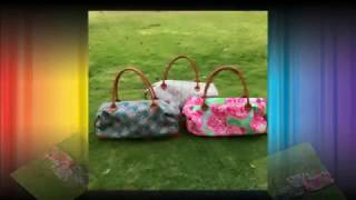 Lilly Duffle Bag Travel Overnight Weekend Tote Bag