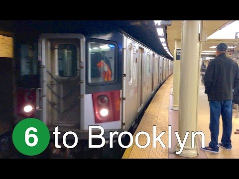 ⁴ᴷ R142A 6 Train to Brooklyn Action