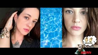 Asia Argento e Anthony Bourdain, relax in piscina a Roma con i figli di lei al seguito