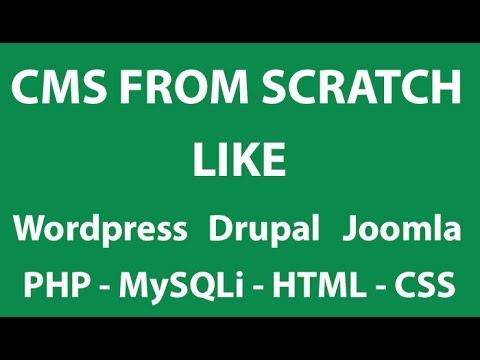PHP Tutorials #2 - Advance CMS From Scratch like Wordpress ...