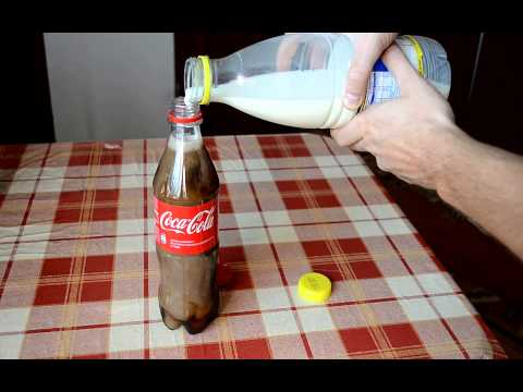 Coke mixed with Milk Experiment - Coke and milk - Kola ve Süt Karıştırılırsa Ne Olur?