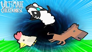 O MAIOR BURACO NEGRO SUGOU TODO MUNDO !! - Ultimate Chicken Horse #3