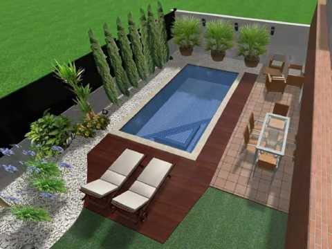 Ejemplo de proyecto de dise o de jard n youtube for Diseno de jardines modernos con piscina