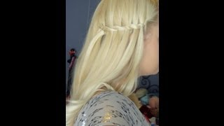 Easy Waterfall Twist Hairstyle - Back to School Hair Thumbnail