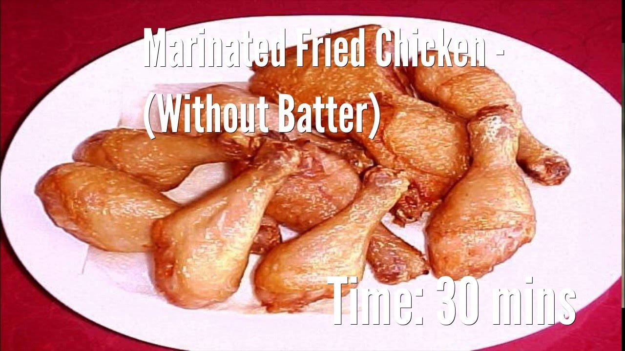 how to make fried chicken batter without flour