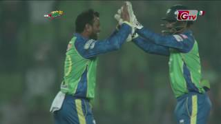 Alok Kapali's 4 Wickets Against Khulna Titans | 28th Match | Edition 6 | BPL 2019