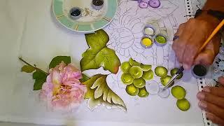 Roberto Ferreira – Aprenda a pintar Uvas verdes e Lilás