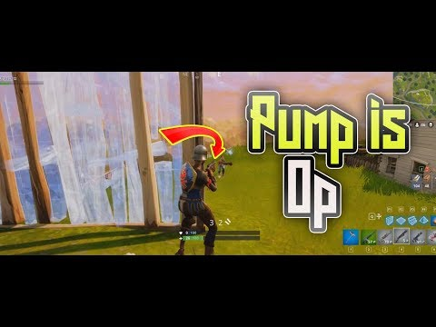 PUMP SHOTGUN OP (Fortnite Funny Moments)