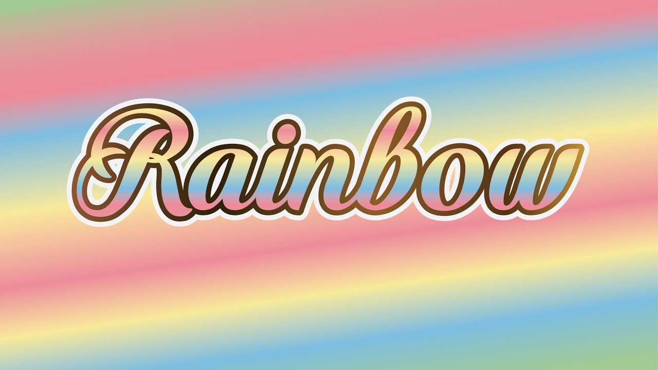 how to add a rainbow effect to text paint.net