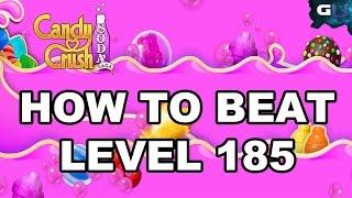 Candy Crush Soda Saga - How to Beat Level 185
