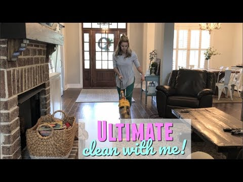 ULTIMATE CLEAN WITH ME   WHOLE HOUSE CLEANING   DEEP CLEAN