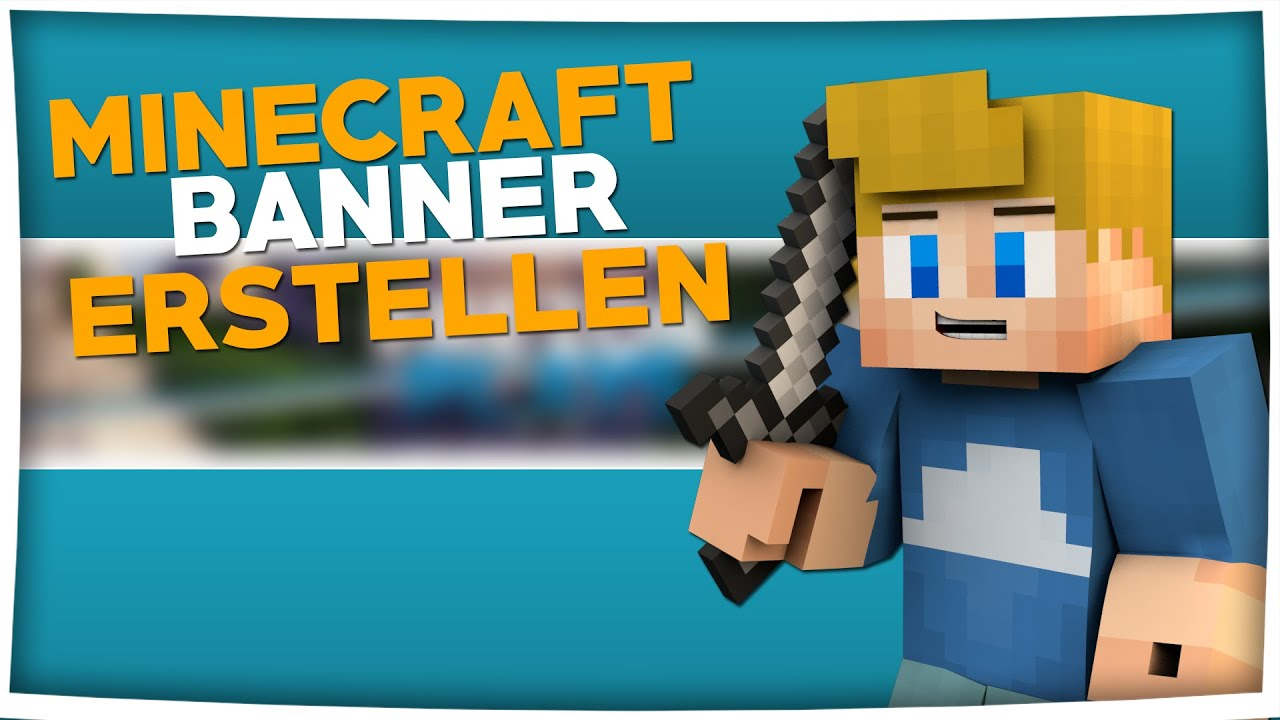 Minecraft Banner erstellen: mit Photoshop - YouTube